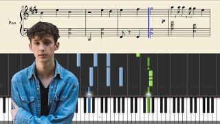 Video Troye Sivan - BITE - Piano Tutorial + Sheets download MP3, 3GP, MP4, WEBM, AVI, FLV Januari 2018