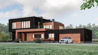 Дом в стиле Лофт | Проекты Домов Строительство под ключ | Проект в стиле Лофт | Ремстройсервис М-363
