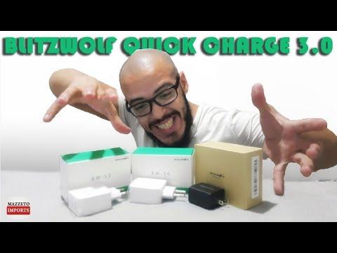 Carregadores Quick Charge 3.0 Blitzwolf - EXCELENTES! Unboxing e Análise