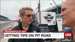 Coy Wire goes to Pit Row at Indy500!