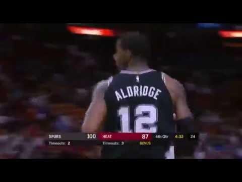 Aldridge超猛的背框進攻!好久沒看到有禁區球員打這麼帥了