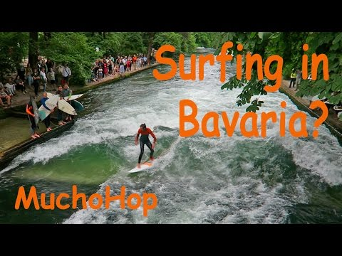 Surfing in Bavaria? English Garden in Munich