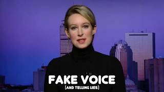 Elizabeth Holmes Accidentally uses REAL VOICE !!