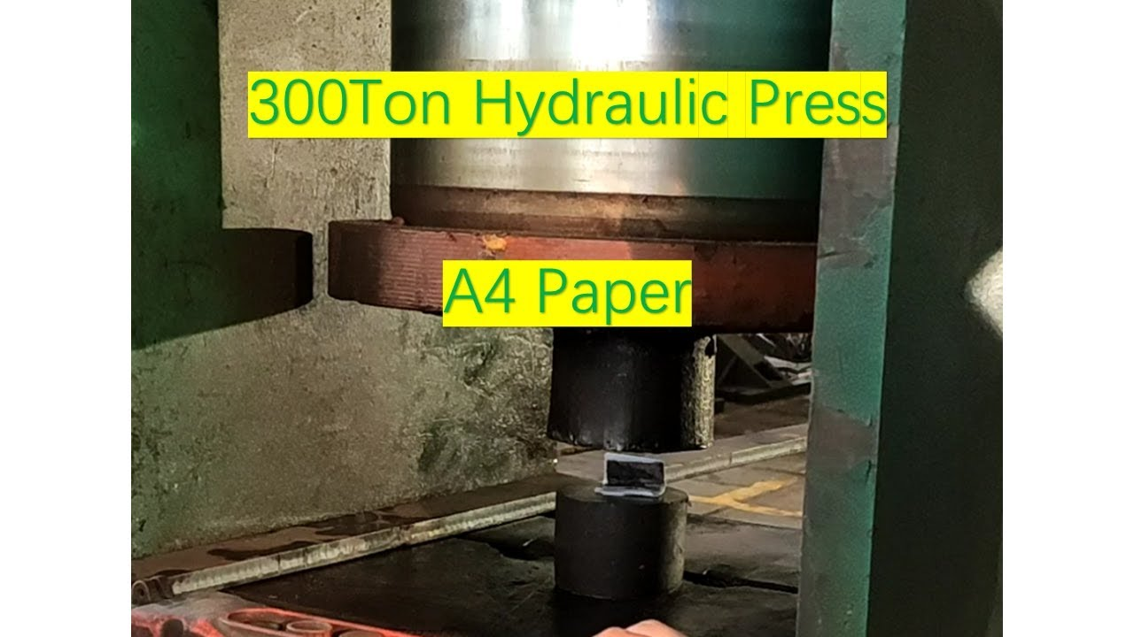 300 Ton Hydraulic Press VS A4 Paper,, Can you fold paper more than 7 times  with hydraulic press