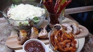 Теплый Салат Рулетики вкусный ужин  от Ресторан Дома