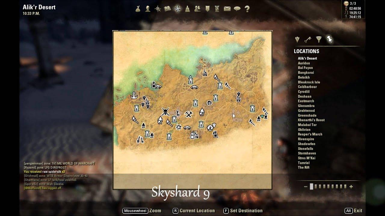 Eso Alik R Desert Skyshard Locations Youtube