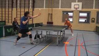 Kento Nomura 野村健翔 オランダスタイルペン粒高 Match highlights Dutch League