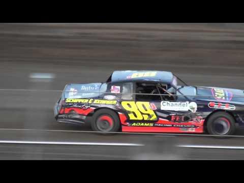 IMCA Stock Car Heat 1 Independence Motor Speedway 4/16/16