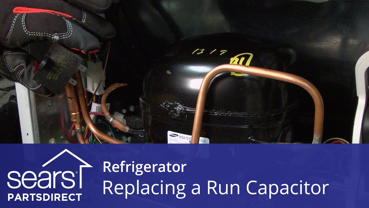 How to Replace a Refrigerator Compressor Run Capacitor Westpoint Refrigerator Wiring Diagram on
