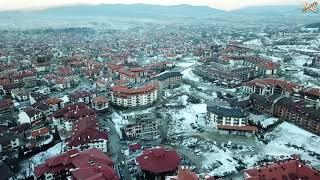 Bulgaria Skiing - Bansko Bulgaria (drone view)