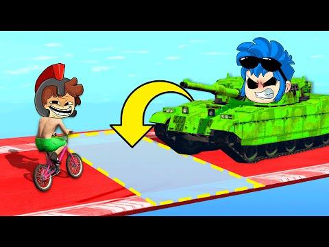 ¡BICICLETA vs TANQUE en la CARRERA TROLL! (Muy gracioso) 😂 GTA 5 CARA a CARA con los COMPAS