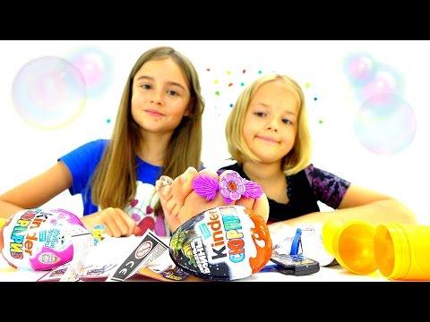 Киндер сюрприз игрушки в видео для детей.