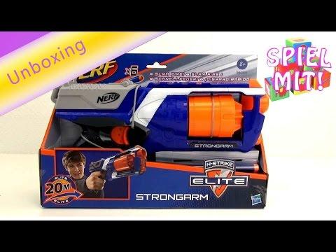 Nerf Weihnachtskalender.Nerf Deutsch Unboxing Review Nerf N Strike Elite Strongarm Hasbro