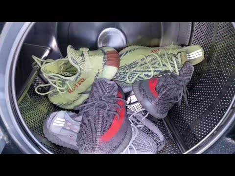 THROWIN MY YEEZY 350 V2 BOOST IN THE WASHING MACHINE! HOW WILL IT TURN OUT?