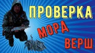 ПРОВЕРКА МОРД(ВЕРШ)/ЛОВЛЯ РЫБЫ ЛОВУШКАМИ/АРХАНГЕЛЬСКАЯ ОБЛАСТЬ/ Catching fish by traps