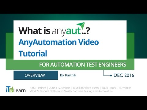 What is AnyAut ? (Any Automation) for Automation Testers Overview