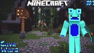 Minecraft Cave Wars #1|ПЕРВЫЙ РАЗ ИГРАЮ В Cave Wars!(Banana Game)