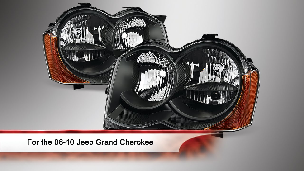 08 10 Jeep Grand Cherokee Oem Style Headlights