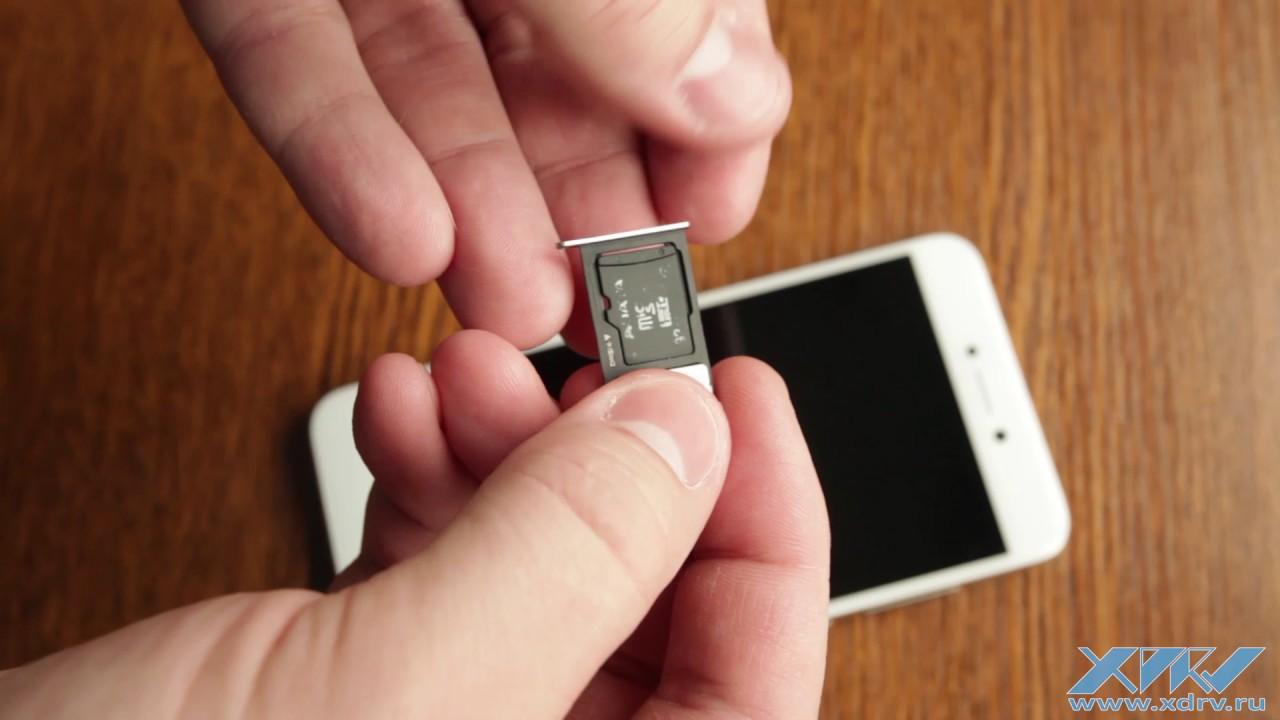 Как вставить SIM-карту в Huawei P8 Lite (2017) (XDRV.RU) - YouTube