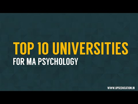 Top 10 universities for MA Psychology