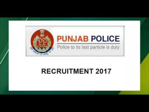 Punjab police job 2017-2018 for 10th and 12th pass