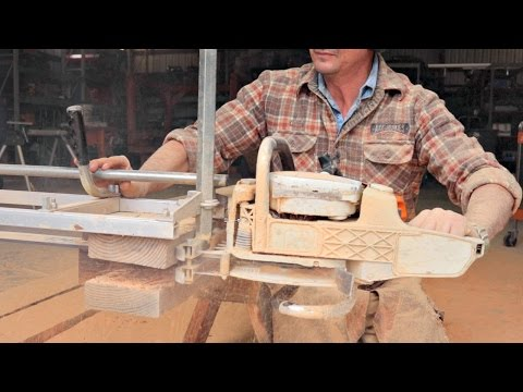 How To Turn Logs Into Boards - Portable Chainsaw Mill - YouTube