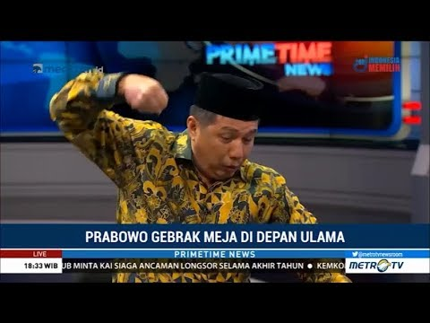 Prabowo Marah Tinju Meja Berkali-kali di Depan Ulama, Diungkap Usamah