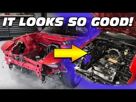 PAINTING THE FD RX-7'S ENGINE BAY!!!
