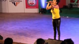 "Indira Joshi ""Rato Ghanghara""  live performance at Nepal Academy"