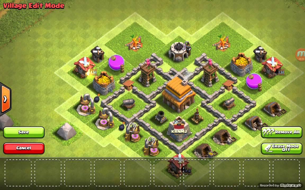 Base Coc Th 4 Anti Bintang 3 1