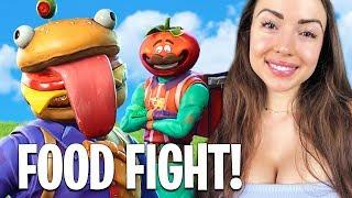FOOD FIGHT Game Mode LIVE! (Fortnite Battle Royale)
