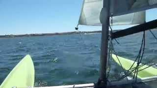 Catamaran - Windrush 14 sailing at Stansbury, South Australia