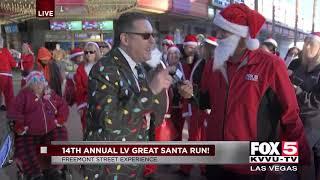 14th annual Las Vegas Great Santa Run at Fremont Street