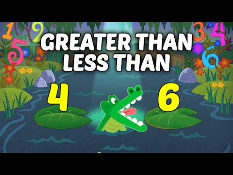comparing numbers greater than less than for kids basic math