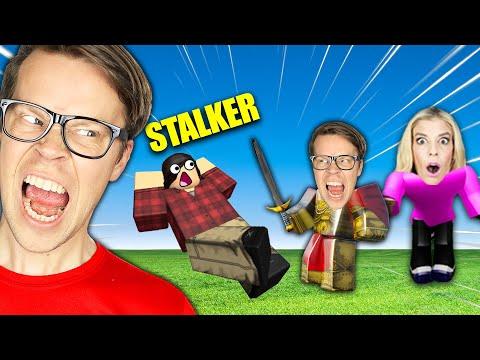 Matt Confronts Rebecca's Stalker in NOOB vs PRO vs HACKER Challenge in Roblox