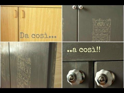 Credenza Piattaia Ikea : Come trasformare un mobile anonimo in credenza provenzale youtube