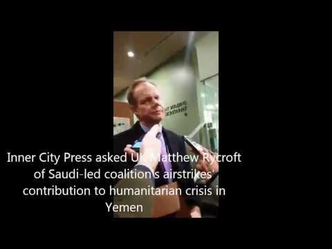 On Yemen, ICP asked UK Matthew Rycroft of Saudi-led Coalition Role in Starvation