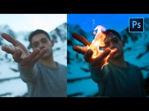 [ Photoshop Manipulation ] FIRE HAND EFFECTS - TUTORIAL