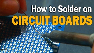 How to Solder on Circuit Boards!