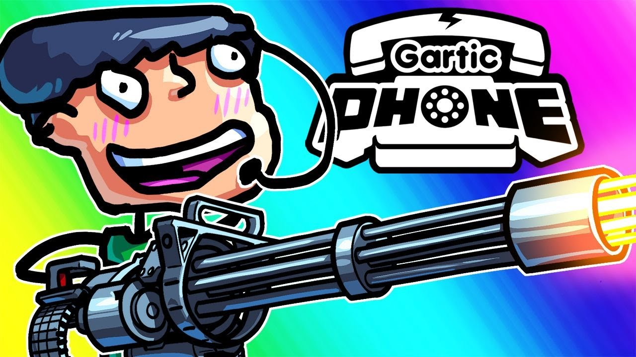 Gartic Phone Funny Moments - Our Censored Black Bars Are Actually Miniguns!!