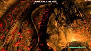 Skyrim - Шахта вороньей скалы - чёрно-красная дверь