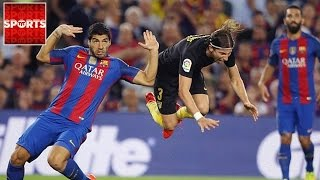 SUAREZ Blasted By Filipe Luis After Dirty Tackle [Is Suarez a Dirty Player?]