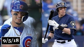 Chicago Cubs vs Milwaukee Brewers Highlights || September 5, 2018