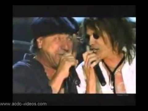 you shook me all night long ACDC with Steven Tyler