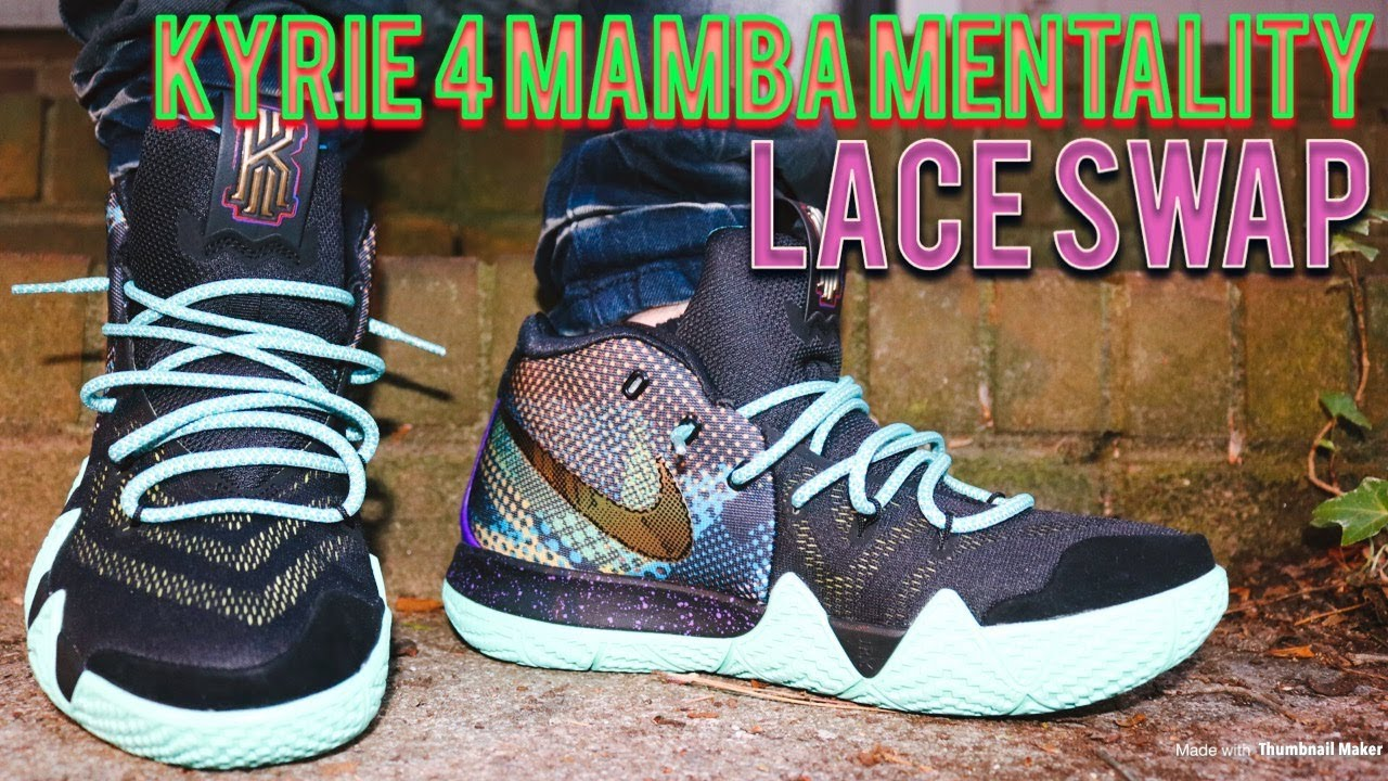 adeeea58a8cc LACE SWAP - KYRIE 4 MAMBA MENTALITY - FUELED BY DMG LACES - YouTube