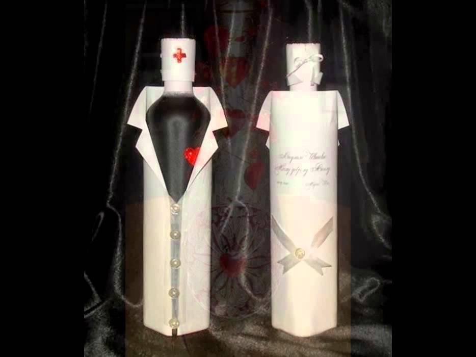 Modernistyczne Dekoracje butelek ślubnych - YouTube WG44
