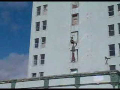 Lake Wales Fl Fireman Repelling From Grand Hotel