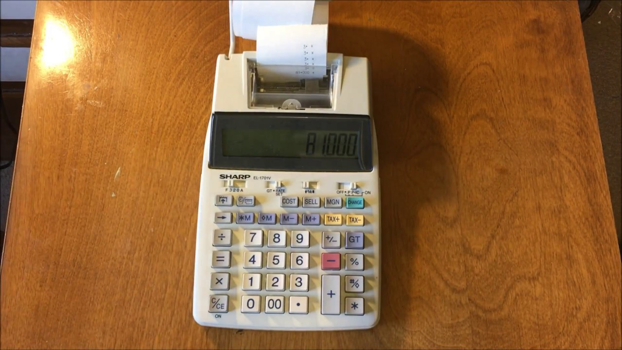 sharp el 1701v reivew and teardown accounting calculator youtube rh youtube com
