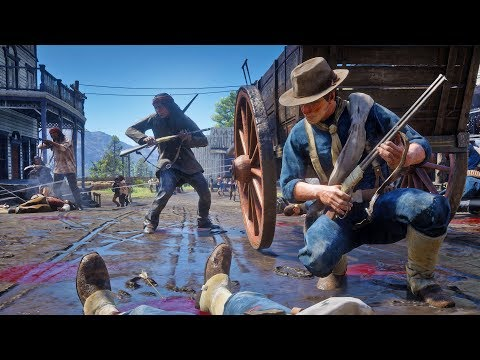 WAR Erupts In Valentine! Native American's And Army Battle! Red Dead Redemption 2 [RDR2 PC Mods]