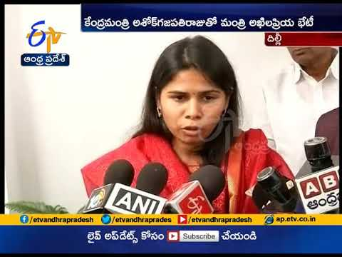 Bhuma Akhila Priya appeals to Union Ministers to extend support for Tourism Development